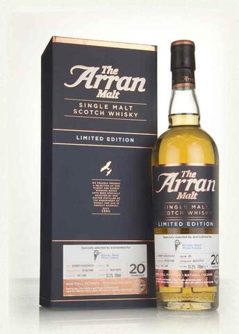 Arran Sherry Hogshead cask.85 bottle 179/335 Silver Seal 51,2% alc 20 years old.