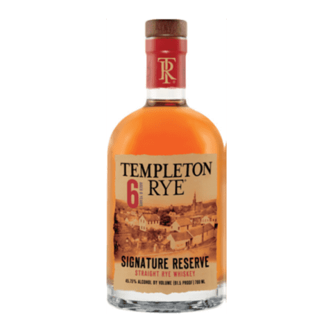 Templeton Rye 6 years old Bourbon
