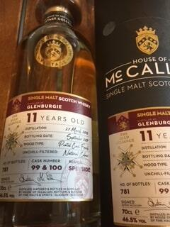 Glenburgie 11 Years Old #99 & 100 Speyside Single Malt Whisky 46,5%