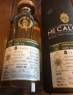 House Of McCallum 8 Years Old #3431-36 Caol Ila Islay Single malt Whisky 46,5%